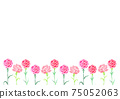 Background illustration of carnation for Mother's Day 75052063