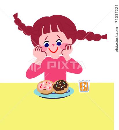 吃甜甜圈前的女孩 75057225