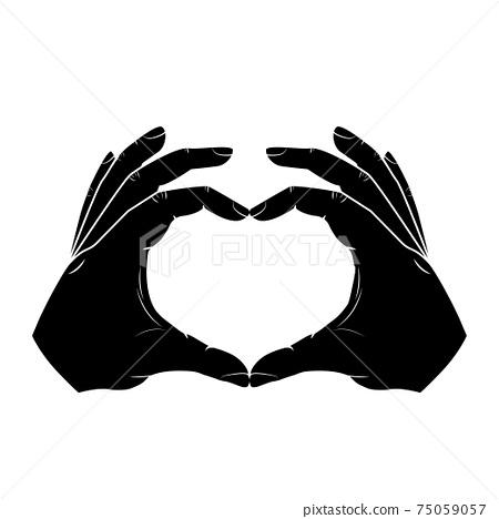 Hands making sign heart 75059057