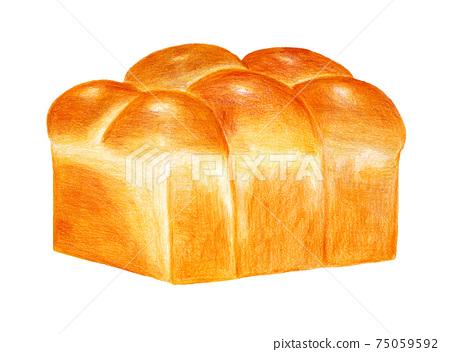 브리오슈 식빵의 색연필 화 75059592