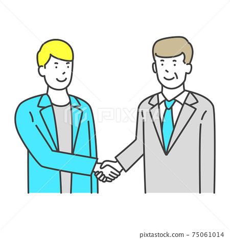 Businessman shaking hands 75061014