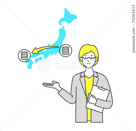 Female consultant proposing server redundancy 75061015