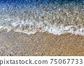 sandy beach and water 75067733
