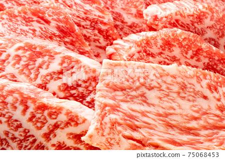 """牛肉(用於烤肉)。據說"""" Hiuchi""""是難得的一部分。 75068453"""