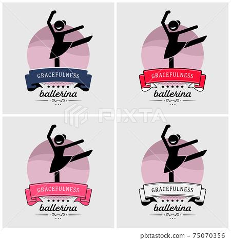 Ballet dance logo design.  75070356