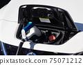 電動汽車電源和充電軟管要在充電站充電 75071212