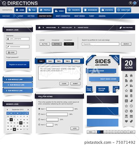 Web Design Website Element Template Button.  75071492