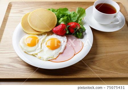 早餐形象煎餅煎蛋 75075431