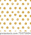 Pen drawing dots. Seamless pattern. Textile, wallpaper and wrapping paper design. 75075604