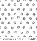 Pen drawing dots. Seamless pattern. Textile, wallpaper and wrapping paper design. 75075605