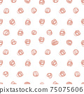 Pen drawing dots. Seamless pattern. Textile, wallpaper and wrapping paper design. 75075606
