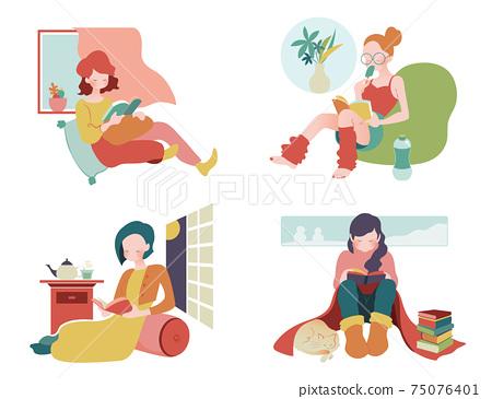 閱讀是享受在家時光的標準方式 75076401