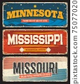 USA states Missouri, Mississippi, Minnesota signs 75077020