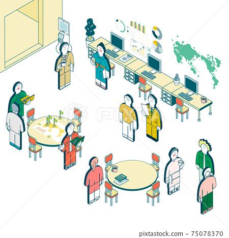 商業場景的插圖 75078370
