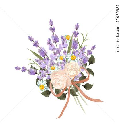玫瑰和熏衣草的香味 75086987
