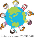 Cute children in the world Smiles Earth 75091048