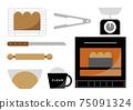 Bread making illustration 75091324