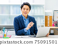 Male business reception 75091501