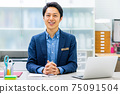 Male business reception 75091504