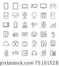 Outline home appliances Icons. 75101528