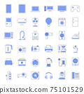 Colored line home appliances Icons. 75101529