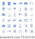 Flat home appliances Icons. 75101530