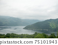 Scenic Landscape View of Mountain and lake, in Scottish Highland. 75101943
