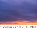 Colorful Sunset Sky with cloud, nature background 75101944