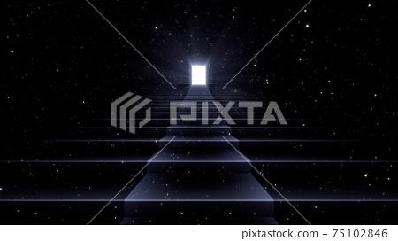 通向光明未來的大門,通向天堂和成功的階梯。 3D插圖 75102846