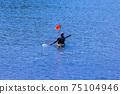 海上皮划艇的照片藍色的海洋海上運動 75104946