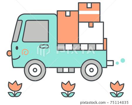 移動,運輸圖像卡車圖 75114835