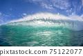 Ocean Wave Swimming Encounter Backlighting 75122077