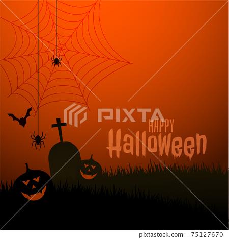 happy halloween scary theme festival background design 75127670