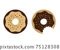 Gnawing donut illustration 75128308