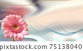 Beautiful pink flowers on pastel abstract background 75138040