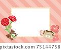 康乃馨和母親節禮物條紋珍珠鏡框設計 75144758