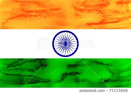 印度國旗水彩日本紙 75153600
