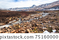 Mountains River Stones  Snow Panoramic Landscape 75160000
