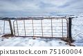 Mountains  Farm Gate Snow Panoramic Landscape 75160004