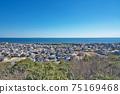 [三重縣鈴鹿市七岡町千秋町琉球觀景台眺望大海的風景 75169468