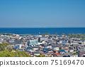 [三重縣鈴鹿市七岡町千秋町琉球觀景台眺望大海的風景 75169470