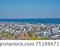 [三重縣鈴鹿市七岡町千秋町琉球觀景台眺望大海的風景 75169471