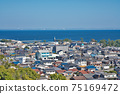 [三重縣鈴鹿市七岡町千秋町琉球觀景台眺望大海的風景 75169472