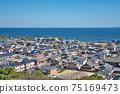 [三重縣鈴鹿市七岡町千秋町琉球觀景台眺望大海的風景 75169473