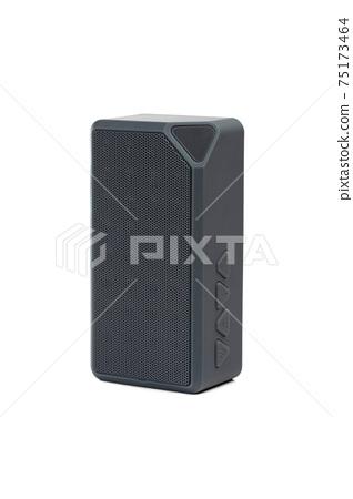 Wireless speaker on a white background. Rectangular music speaker close-up. 75173464