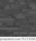 Pixel minecraft style stone block background. Concept of game pixelated seamless square gray material background. Vector illustration 75173565