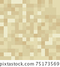 Pixel minecraft style land block background. Concept of game pixelated seamless square beige material background. Vector illustration 75173569