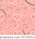 Seamless abstract pattern. Beautiful texture for textile or paper print. Vector illustration. Cute colorful background. 75176251