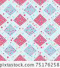 Seamless abstract pattern. Beautiful texture for textile or paper print. Vector illustration. Cute colorful background. 75176258