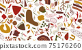 Seamless abstract pattern. Beautiful texture for textile or paper print. Vector illustration. Cute colorful background. 75176260